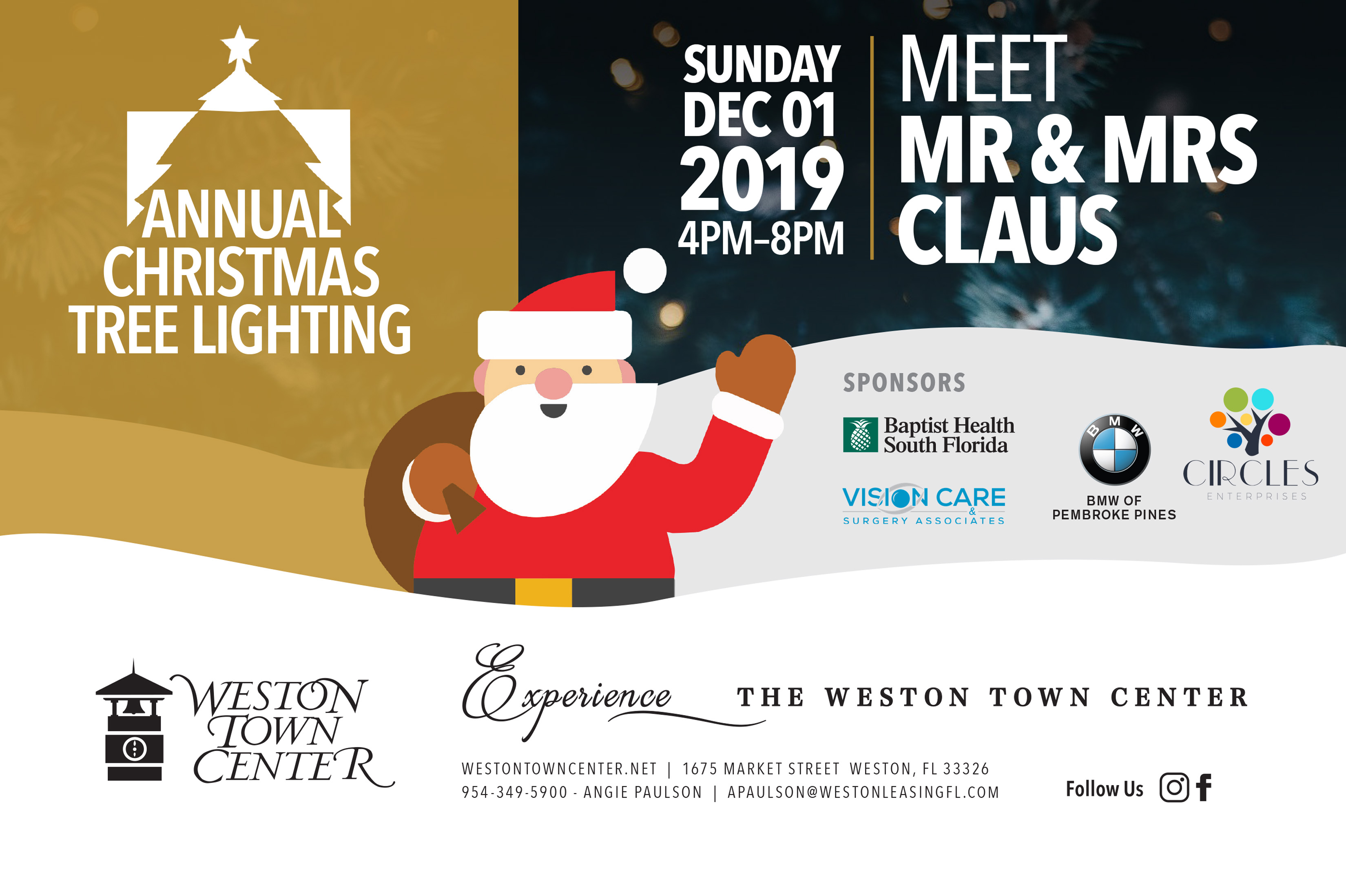 WTC Tree Lighting Flyer